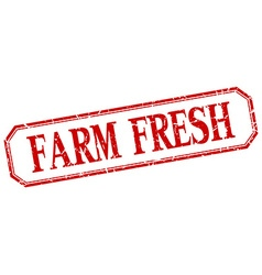 Farm fresh square red grunge vintage isolated vector