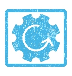 Gear Rotation Icon Rubber Stamp vector