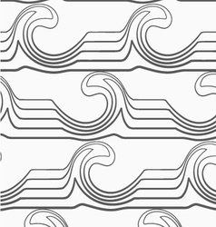 Gray abstract waves with thickening vector image