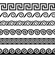 Greek design elements vector image