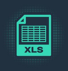 Green xls file document download xls button icon vector
