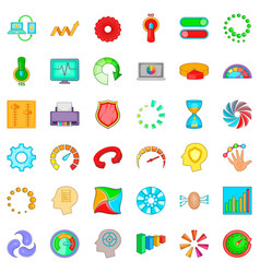 Indication icons set cartoon style vector