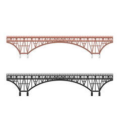 Isolated bridge black silhouette vector