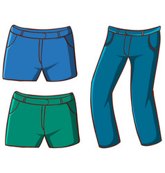 Isolated set pants vector
