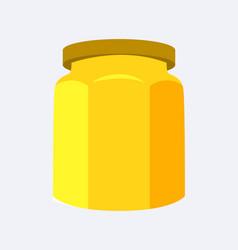 jar of yellow color closeup vector image