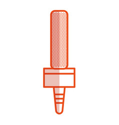 journalism microphone isolated icon vector image