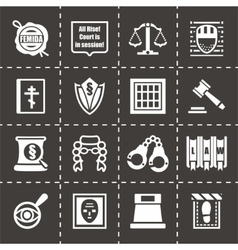 Justice icon set vector image