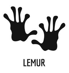 Lemur step icon simple style vector