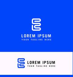 Letter e logo graphic creative line alphabet vector