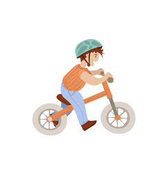 little boy on sport babalance bike first baby vector image