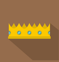 little crown icon flat style vector image