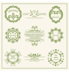 Logo elements flora labels vector image