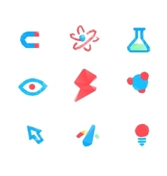 Lowpoly tech and science icons vector