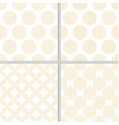 minimal golden geometry line seamless pattern vector image