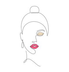 Minimal woman face vector