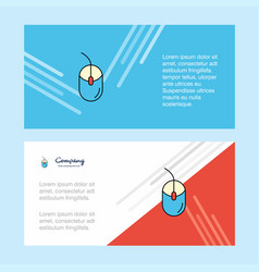Mouse abstract corporate business banner template vector