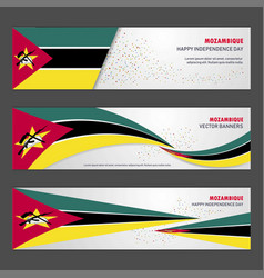 Mozambique independence day abstract background vector