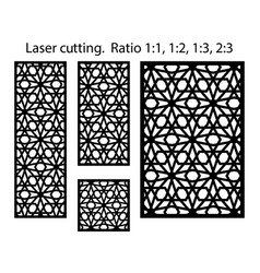 panels and screens for cnc cut laser cutting vector image