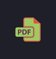 PDF computer symbol vector image