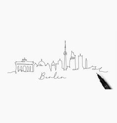 pen line silhouette berlin vector image