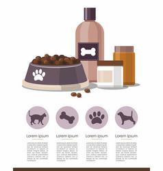 pet care accessories pet shop infographic vector image