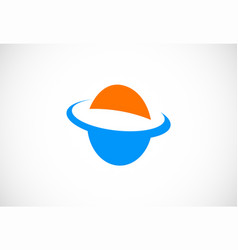 planet orbit logo vector image