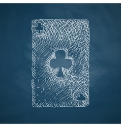 playing card icon vector image