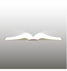 Reading opened book vector