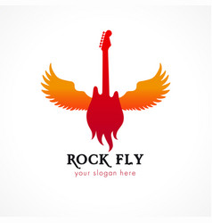 rock fly logo vector image