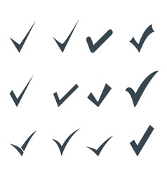 set check mark icon vector image