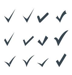 set check mark icon vector image