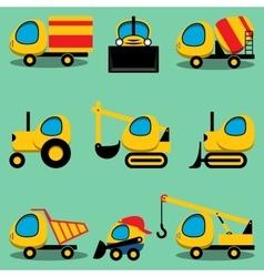 Set of toy cartoon vehicles vector image