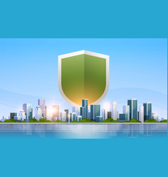 Shield icon data privacy protection and security vector