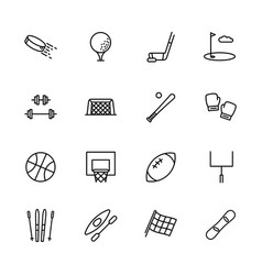 simple set symbols sport and activity contains vector image