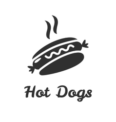 Simple web icon in hot dog vector image