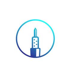 Soldering iron logo on white vector