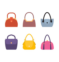 Spring summer collection of women bags stylish set vector
