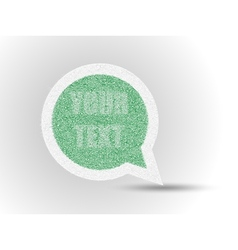STICKER GRASS COMICS LABEL ETIQUETTE vector image