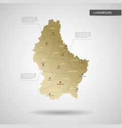 stylized luxembourg map vector image