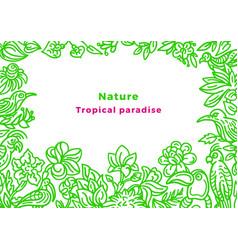 template wild tropical bird nature art sketch vector image