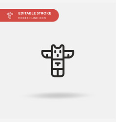 totem simple icon symbol vector image