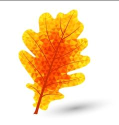 Triangular oak leaf vector