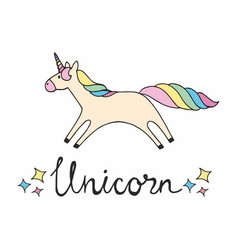Unicorn colorful for design vector