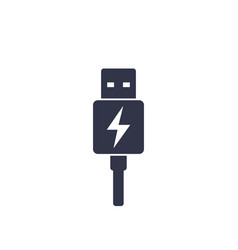 Usb charging plug icon vector