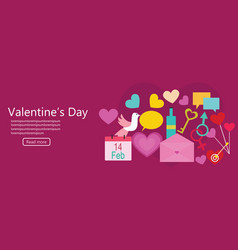valentines day banner background vector image