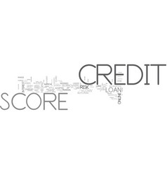 what is a credit score text word cloud concept vector image