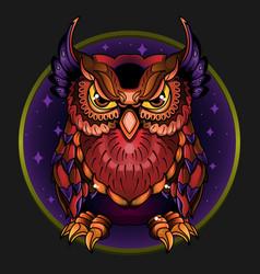 Wild owl vector