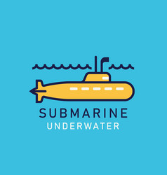 yellow submarine with a periscope vector image