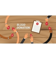 blood donation concept people give their to other vector image