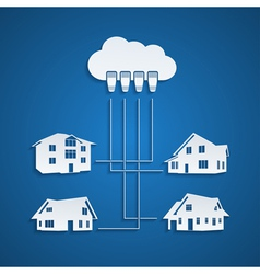 cloud concept 2 vector image